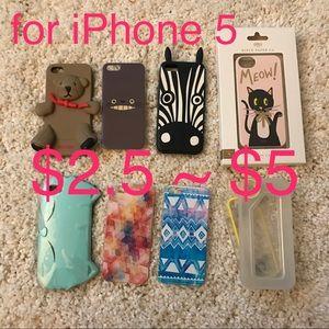 ❤️iPhone 5 case (orig. price $25 to $90)